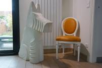 Sculpture chien par Jannick Prevost - sculpteur plasticien
