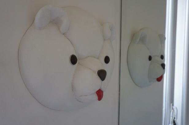 Tête d'ours par Jannick Prevost - sculpteur plasticien