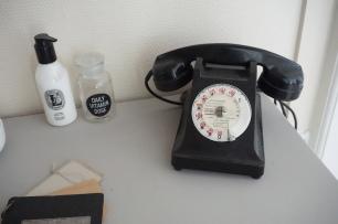Téléphone en bakélite chiné