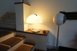 """Lampe """"Serpente"""" designer Elio Martinelli récupérée chez les parents de Marie"""